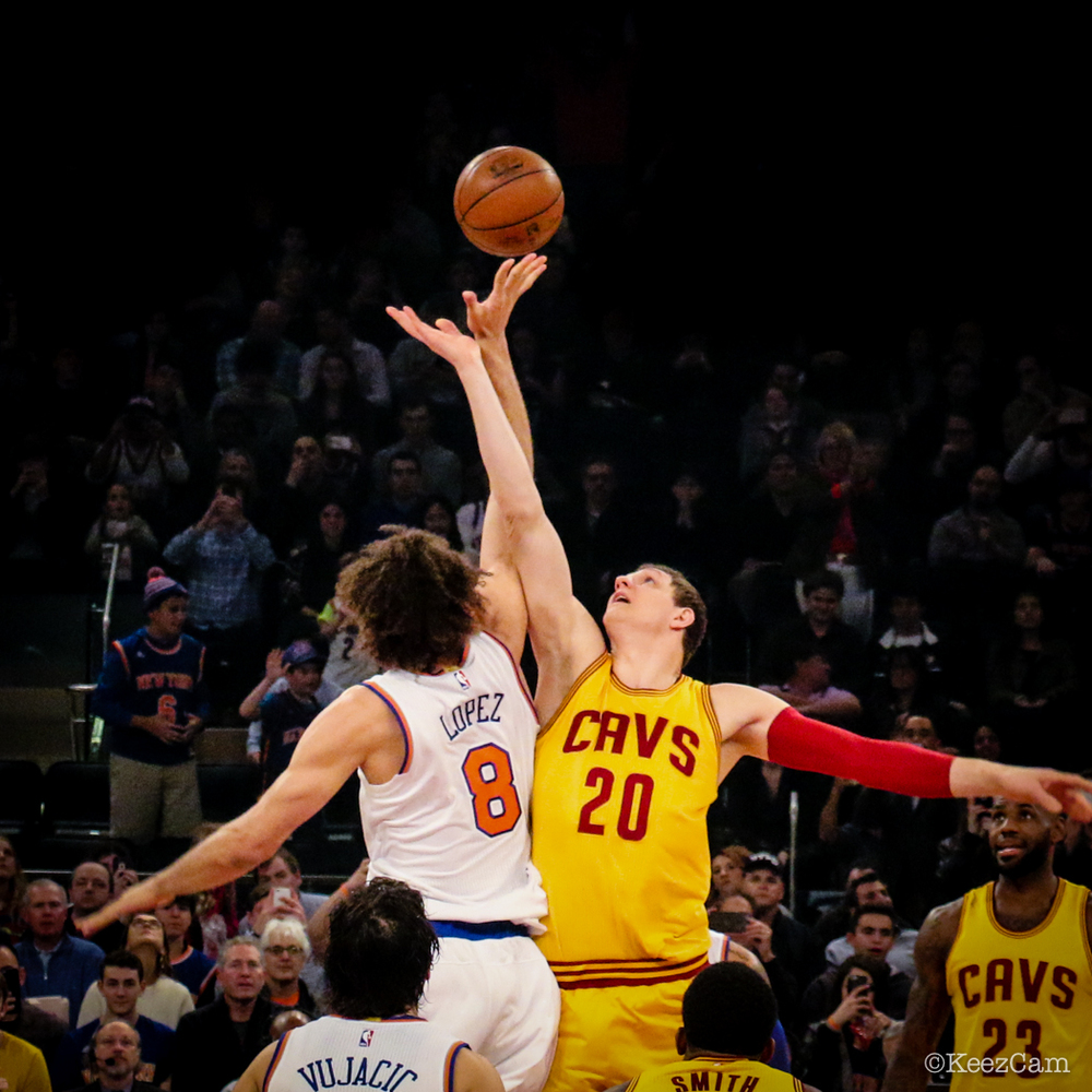 Cleveland Cavaliers vs. New York Knicks Tip-off at Madison Square Garden