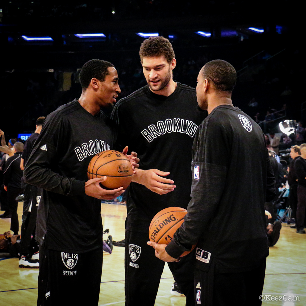 Rondae Hollis Jefferson, Brook Lopez & Markel Brown