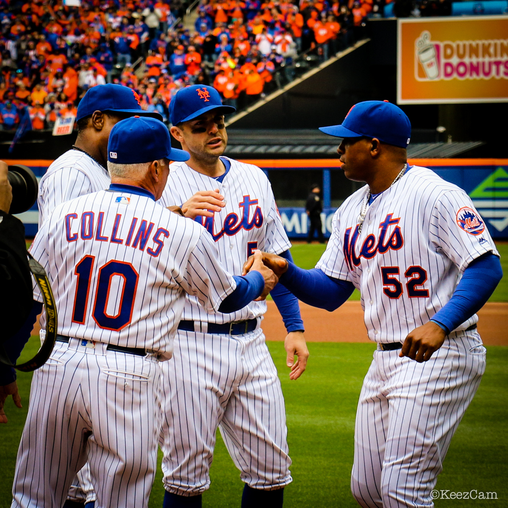 Terry Collins, David Wright & Yoenis Cespedes