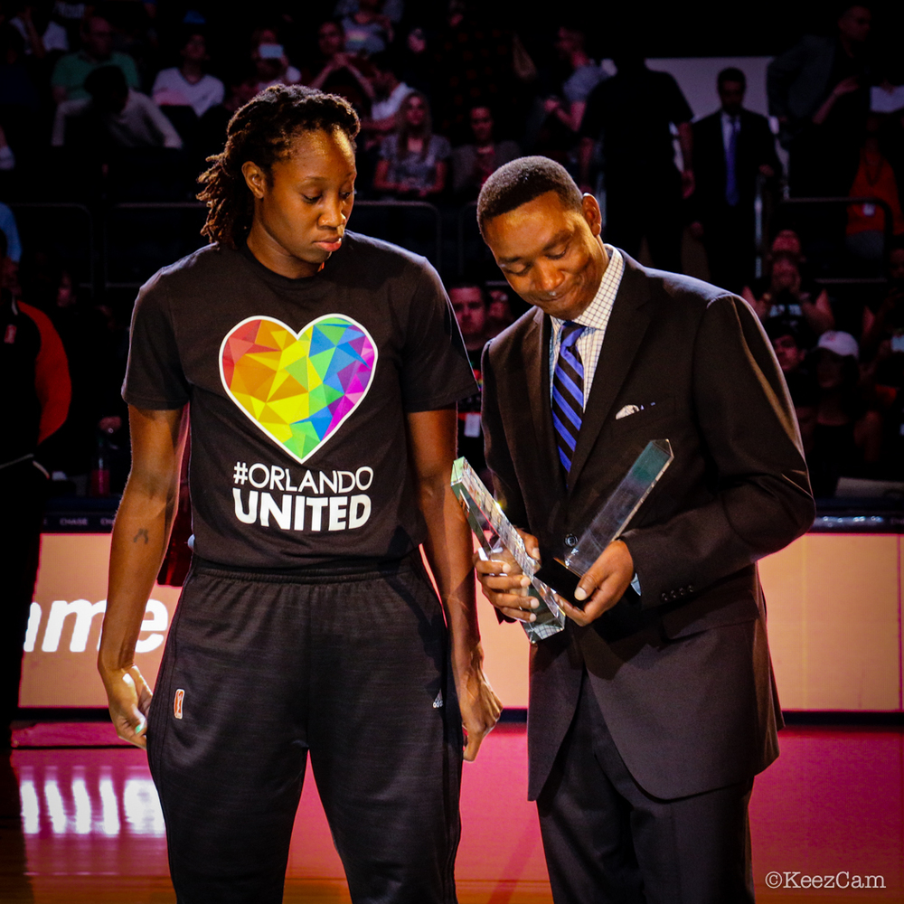 Tina Charles & Isiah Thomas