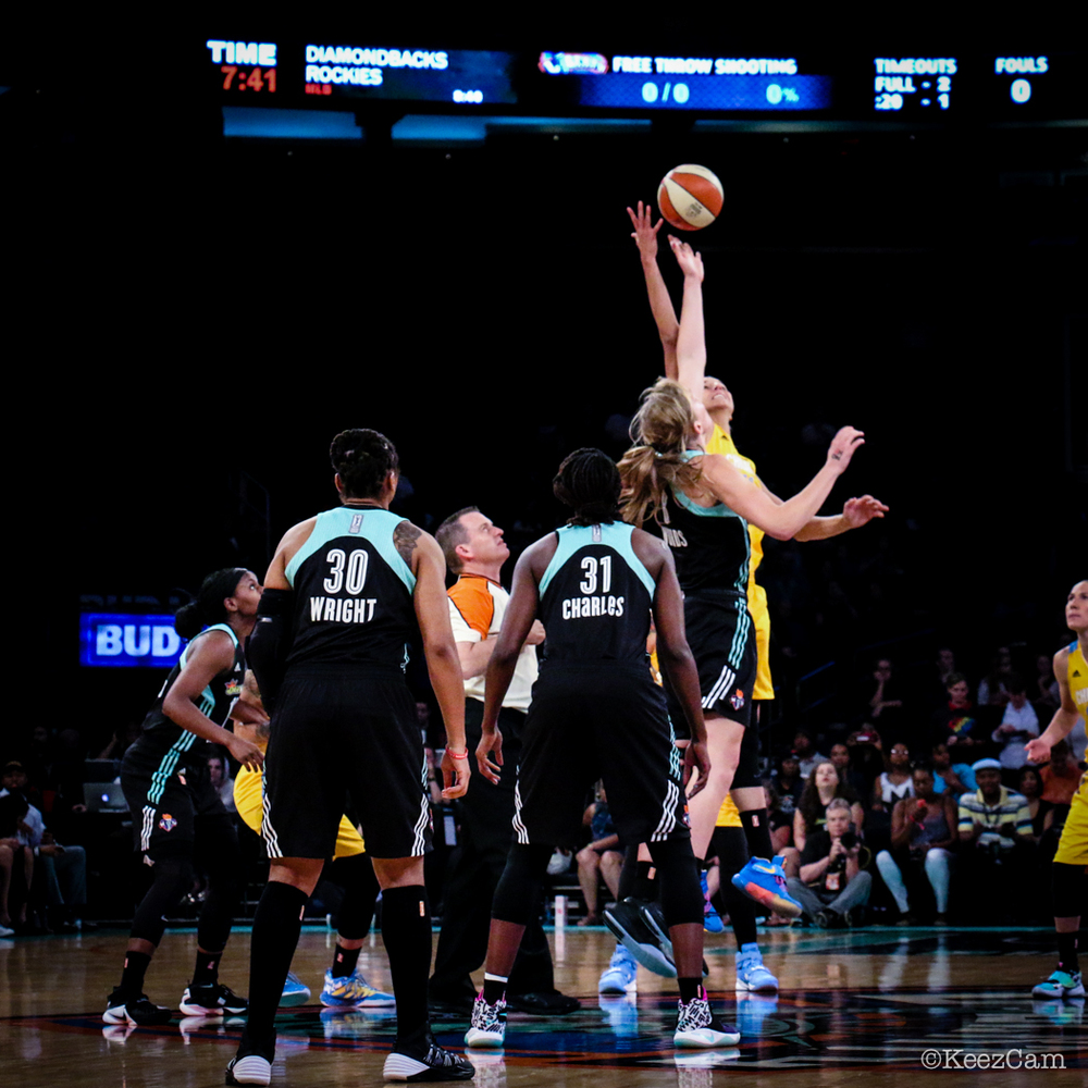 Chicago Sky vs. New York Liberty tipoff at Madison Square Garden