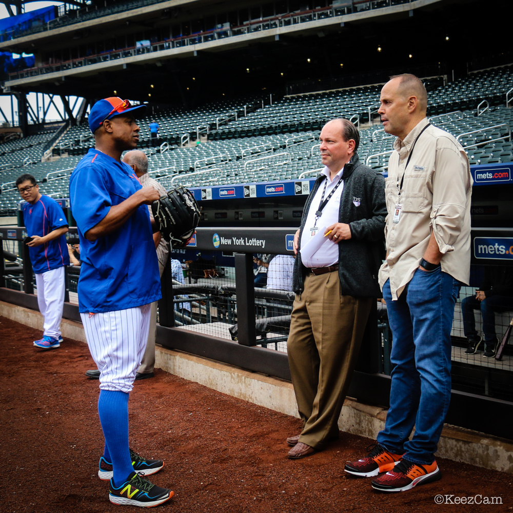 Curtis Granderson & Ernie Johnson
