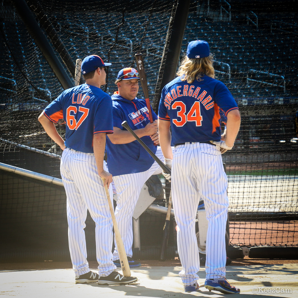 Seth Lugo, Bartolo Colon & Noah Syndergaard