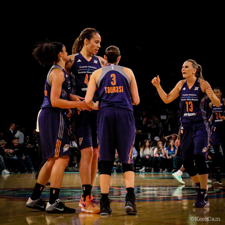 Candice Dupree, Brittney Griner, Diana Taurasi & Penny Taylor