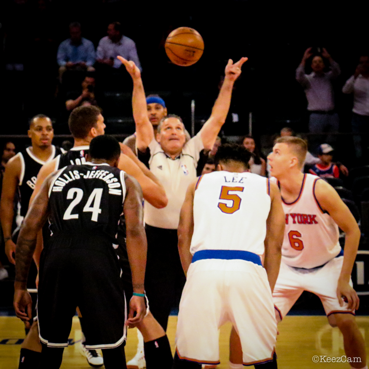 Brooklyn Nets vs. New York Knicks 2016-2017 Tipoff