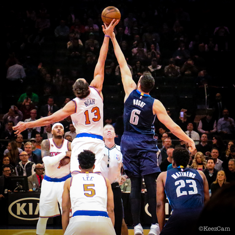 New York Knicks vs. Dallas Mavericks Tipoff