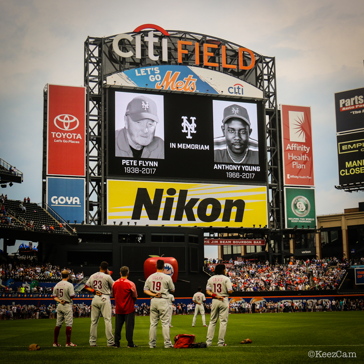 Moment of silence at Citi Field