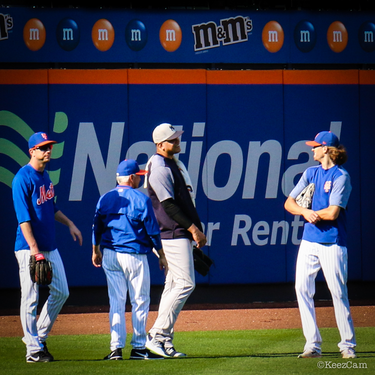 Jerry Blevins, Terry Collins, Dellin Betances & Jacob deGrom