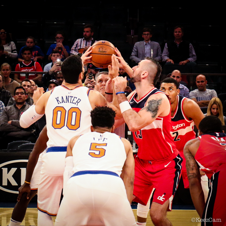 Washington Wizards vs. New York Knicks tipoff