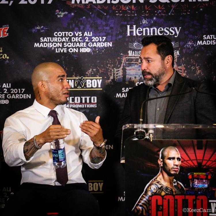 Miguel Cotto & Oscar de laHoya