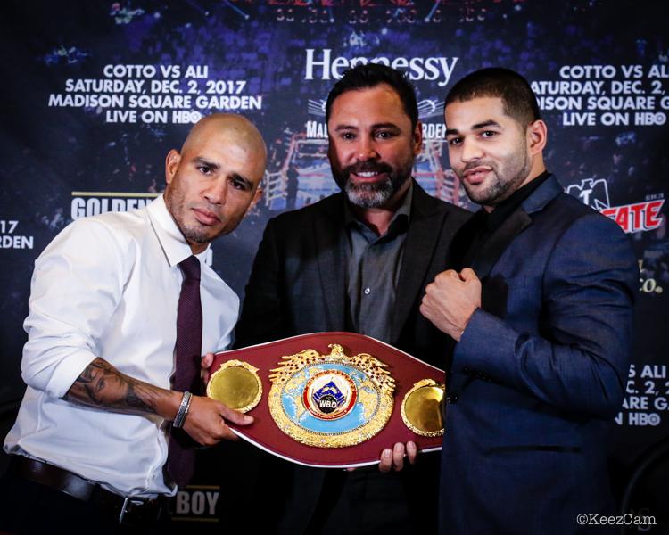 Miguel Cotto, Oscar de la Hoya & Sadam Ali