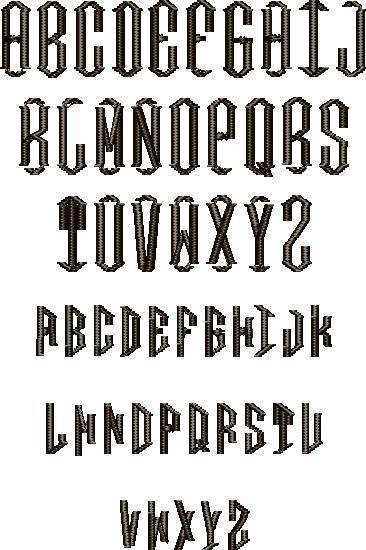 Diamond Full Alphabet
