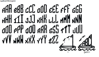 Sailboat Full Alphabet