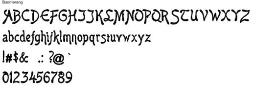 Boomerang Full Alphabet