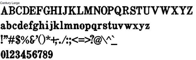 Century Full Alphabet