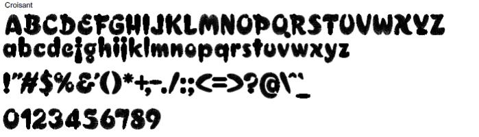 Croisant Full Alphabet