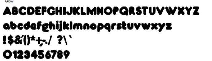 Glow Full Alphabet
