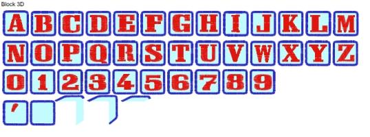 Block 3D Full Alphabet
