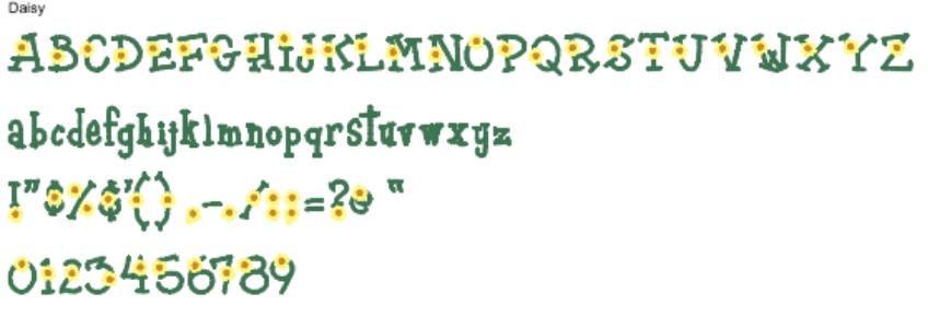 Daisy Full Alphabet