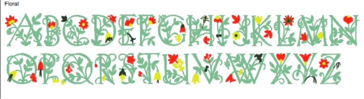 Floral Full Alphabet