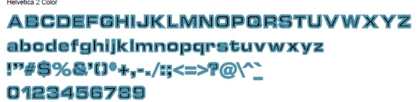 Helvetica Full Alphabet