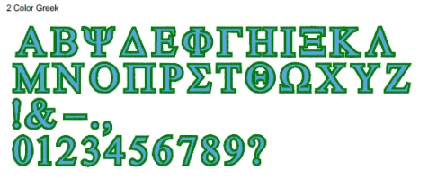 2 Color Greek Full Alphabet