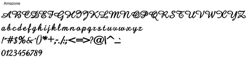 Amazone Full Alphabet