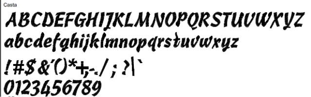 Casta Full Alphabet