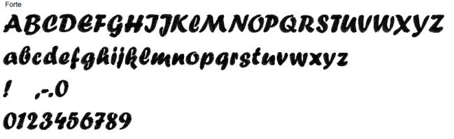 Forte Full Alphabet