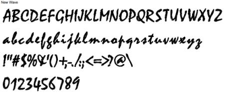 New Wave Full Alphabet
