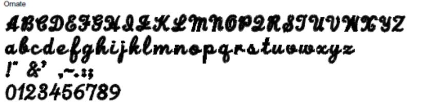 Ornate Full Alphabet