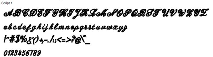 Script 1 Full Alphabet