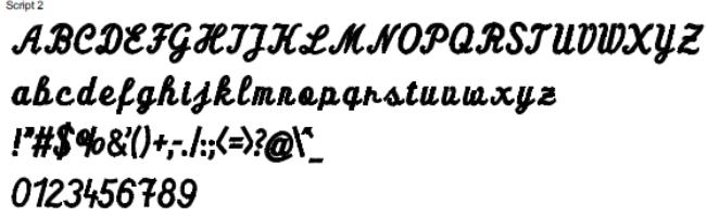 Script 2 Full Alphabet