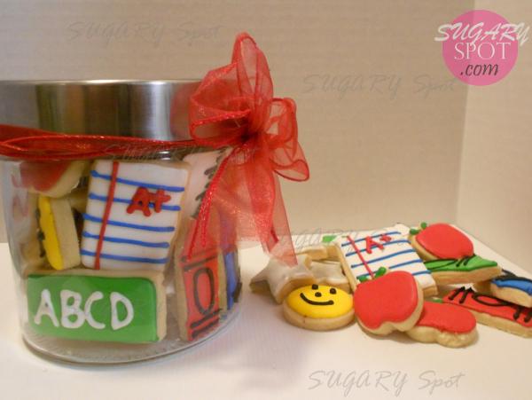 Mini galletas decoradas para el dia del Maestro.