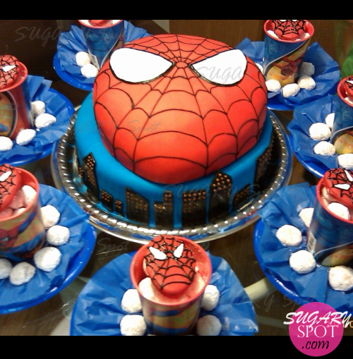 Pastel de Spiderman.