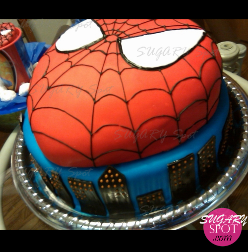 Spiderman Cake.