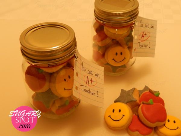 Mason Jars - Mini cookies for Teachers Appreciation Week.