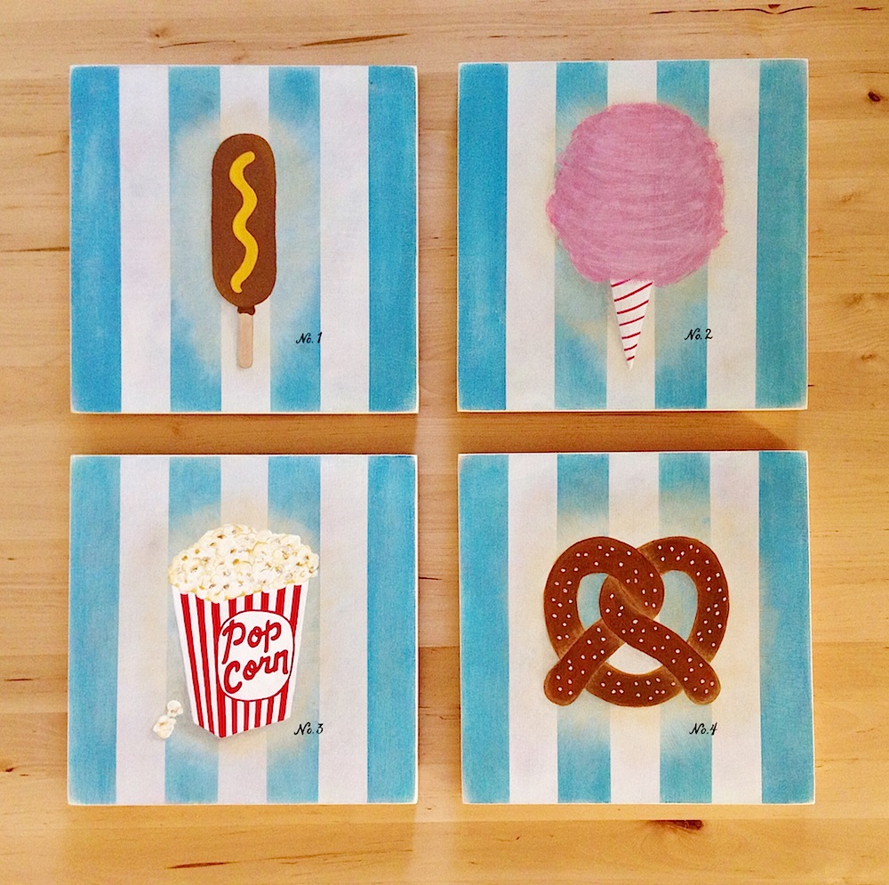 Snack Specimens , 2013 Acrylic and gouache on wood panel