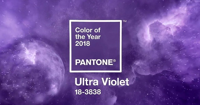 Pantonen ultravioletti, vuoden 2018 väri. Kuva: Pantone