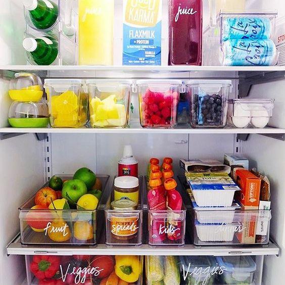 Järjestetystä jääkaapista löytää haluamansa helposti. Kuva: Pinterest