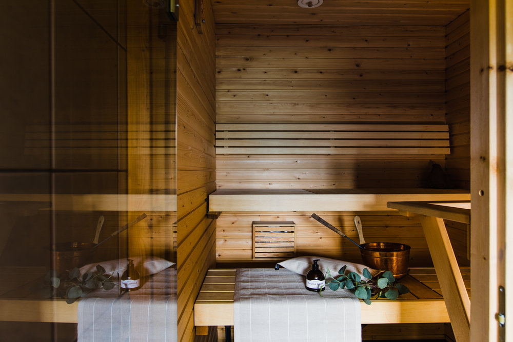 Siisti ja tunnelmallinen sauna vetoaa aina suomalaisiin!  Tekstiilit: Jokipiin Pellava