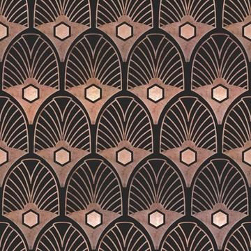 Trendikäs Art Deco tapetti. Kuva: Seinäruusu