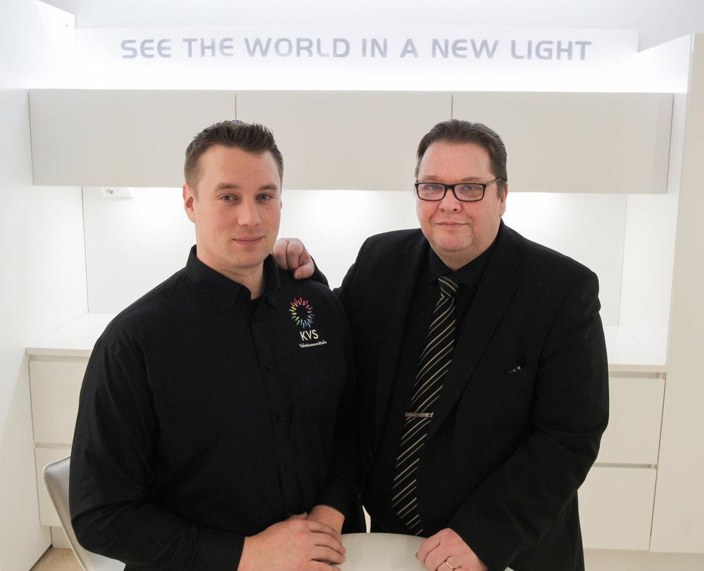 (Jukka Asp vasemmalla): Jukka Asp ja Ari Pölkky yhdistivät kahden yrityksen osaamiset saumattomaksi palvelukokonaisuudeksi.