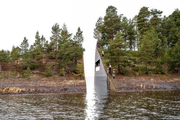 Categoría de Espacios   Memory Wound-July 22 Memorial Site, Jonas Dahlberg Studio  La isla noruega de Utøya será dividida en dos para rendir homenaje a la masacre que se cometió allí en 2011. Desde un lado de la isla los visitantes podrán ver los nombres de las víctimas escritos al otro lado de la isla.