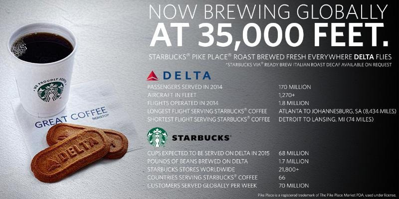 Delta Starbucks coffee