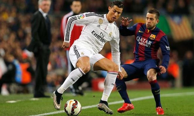 Cristiano Ronaldo Jordi Alba clasico
