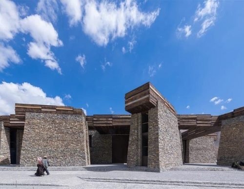 Janamani  Visitor Centre by Atelier TeamMinus, Tibet, China