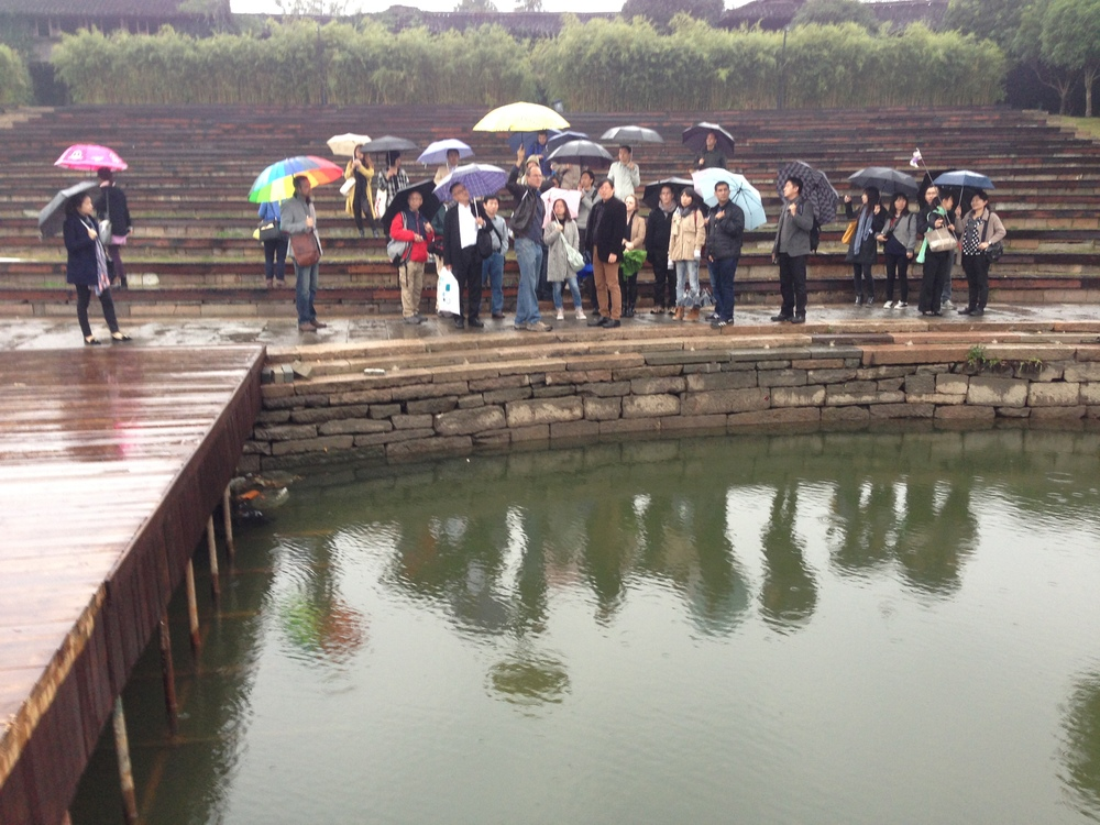At the Wuzhen water theater