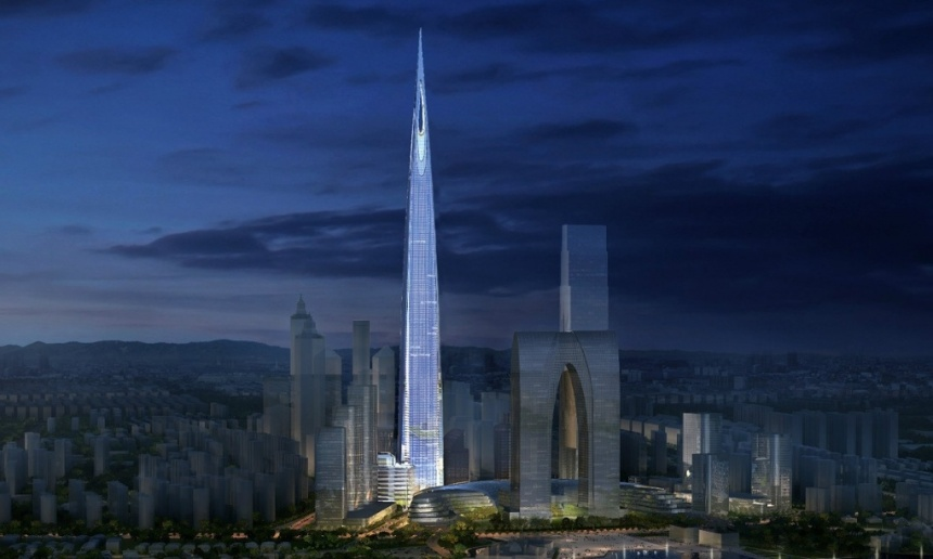 The planned 700m Zhongnan Centre in Suzhou, set to be the world's third tallest building when completed