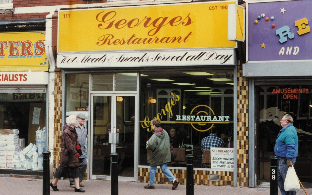 The conversations where recorded at Georges 'greasy spoon' cafe.